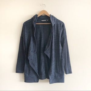 Athleta Asymmetrical open hooded cardigan